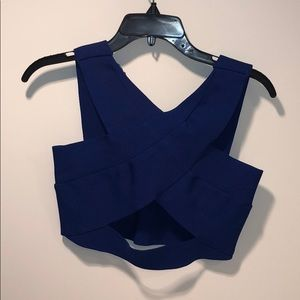 Royal blue bandage crop top